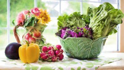 Veggies on table