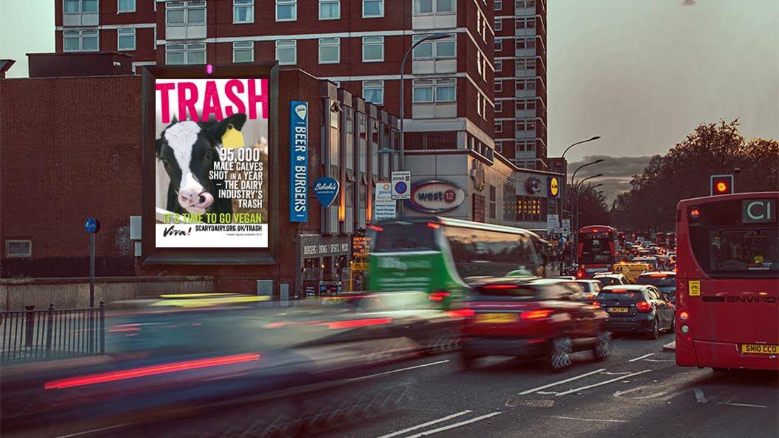Massive Vegan Billboard Appears In London