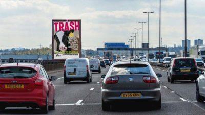TRASH billboard mockup