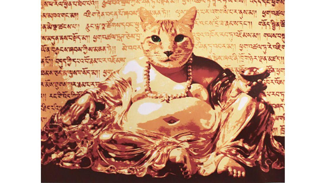 Golden Buddha Cat Fiorito