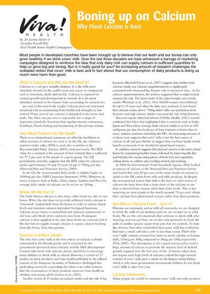 Boning Up On Calcium Fact Sheet