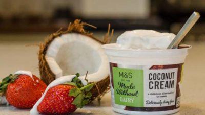 M&S vegan cream