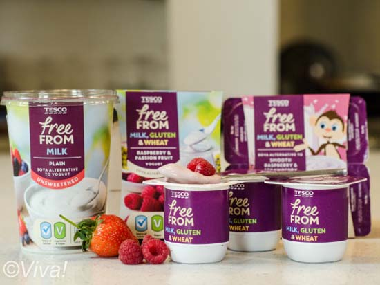 Tesco vegan yogurts
