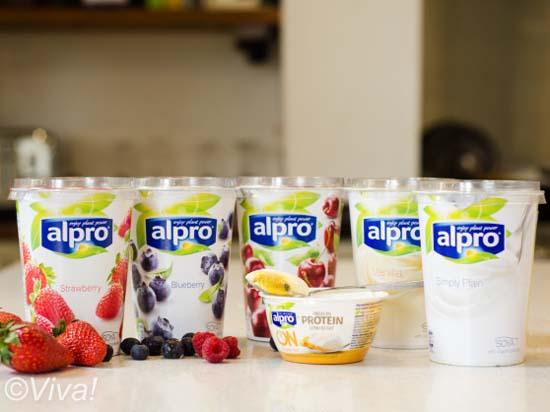 Alpro yogurts