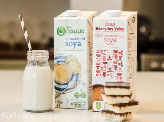 Supermarket own soya milk brands