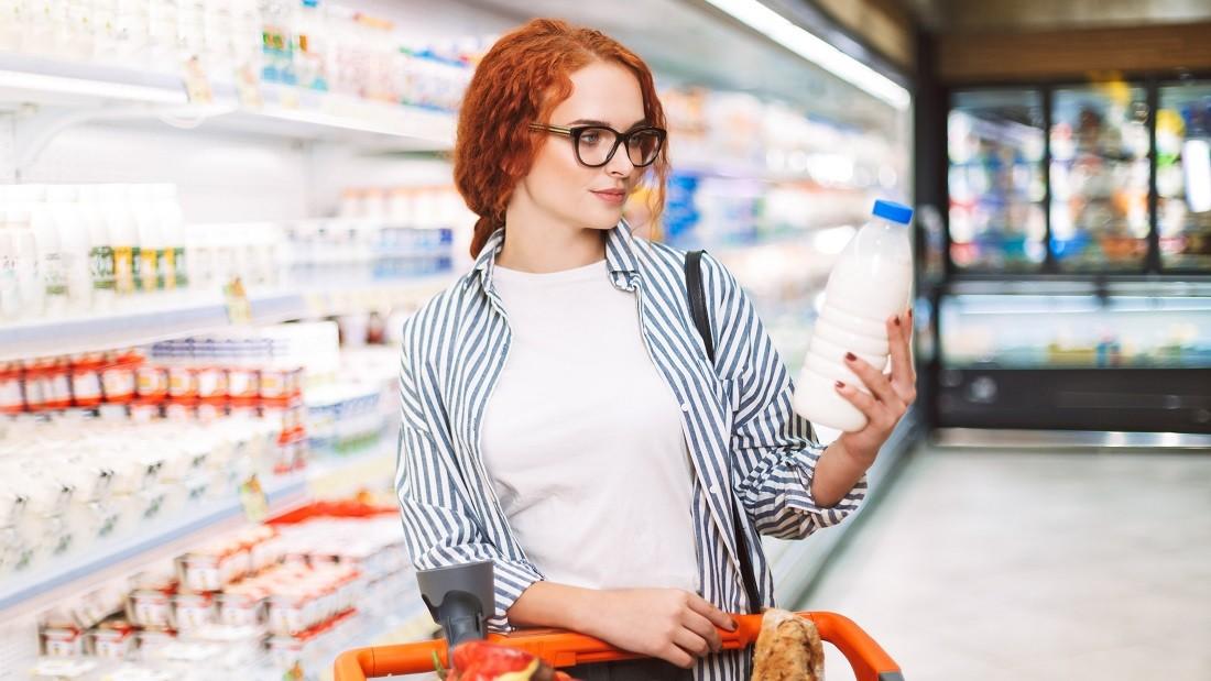 Dairy in supermarket