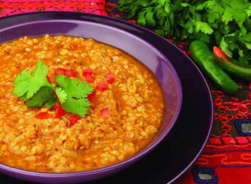 Gujerati Vegetable Curry, Delectable Dhal & Pilau Brown Rice with Raita