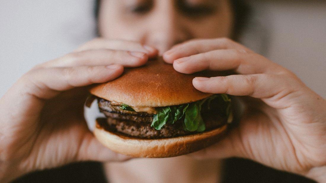 Meaty burger