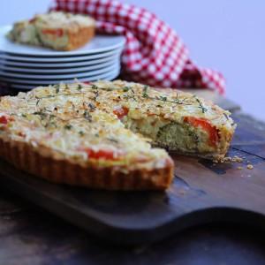 cheese tomato broccoli quiche