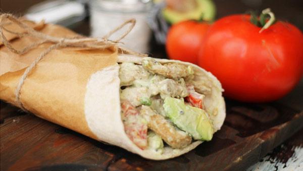 vegan recipe club mock chicken wrap