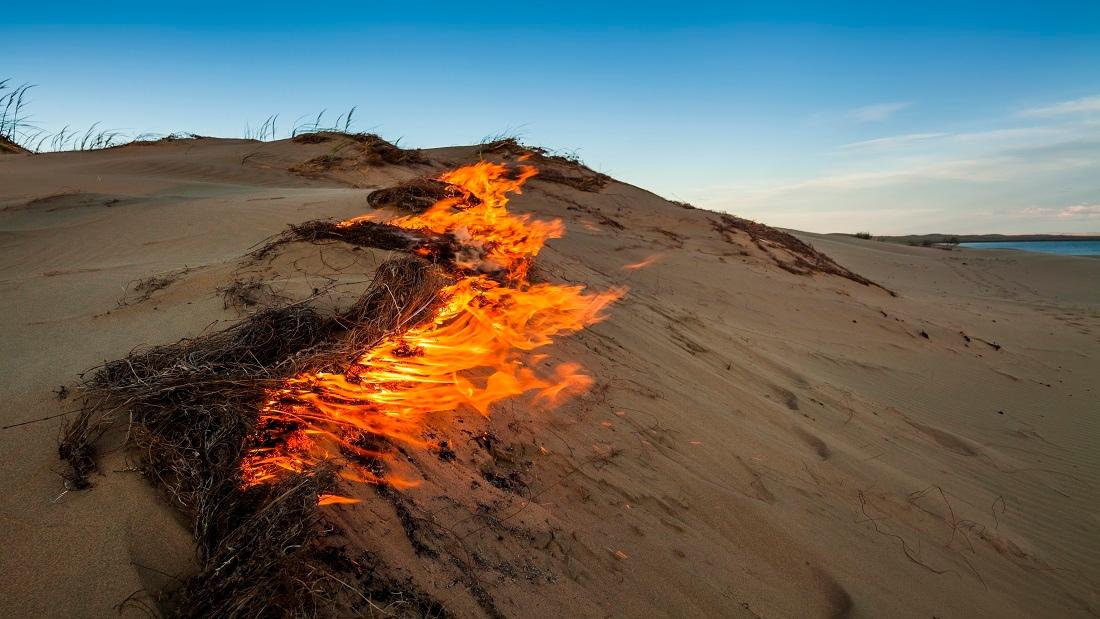 fire-on-sand-dunes-gobi-desert-mongolia