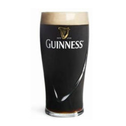 pint of guinness on a white background