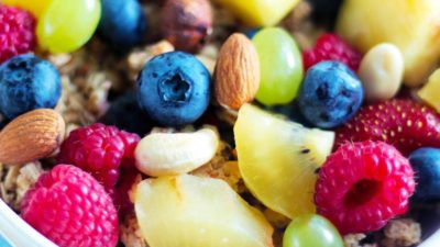 healthy lunch meal fruits calcium