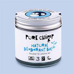 Pure chimp natural balm deodorant vegan