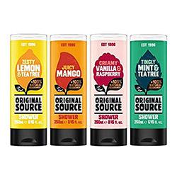 Original source shower gel bottles vegan friendly