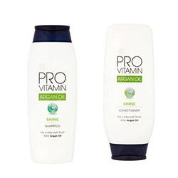 Superdrug pro-vitamin vegan-friendly shampoo and conditioner bottles