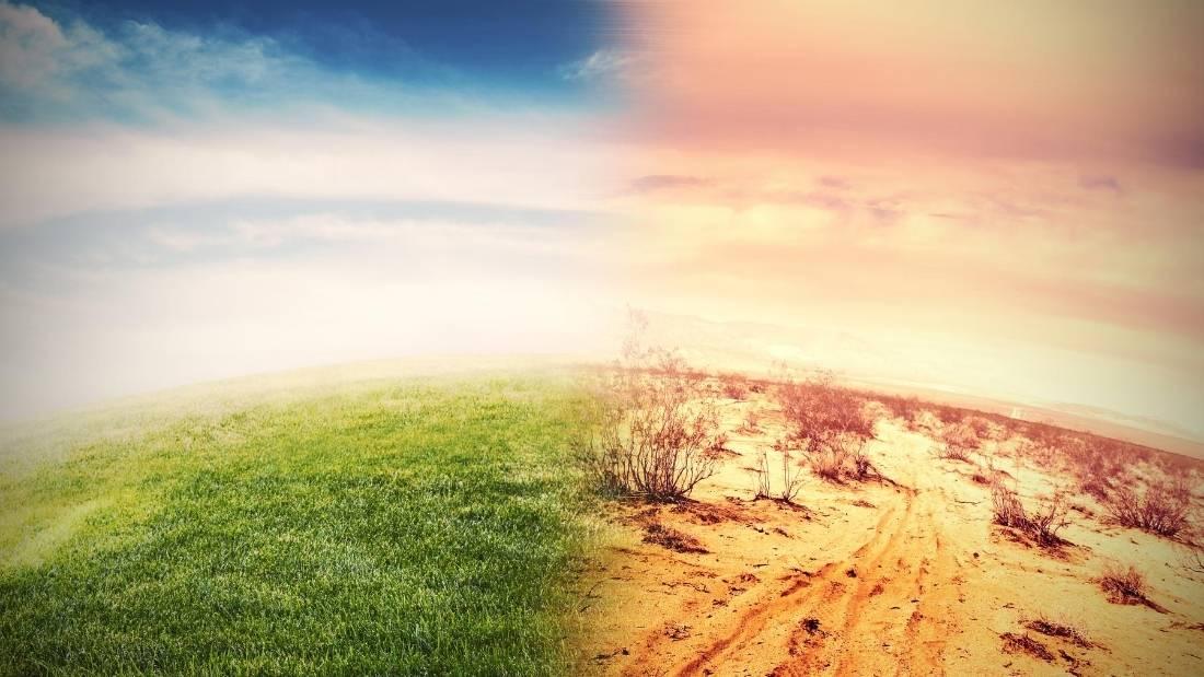 global warming side by side