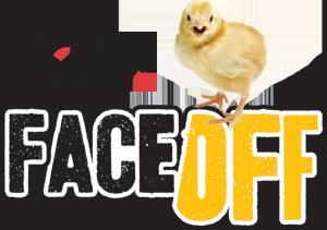 Face off eggs logo