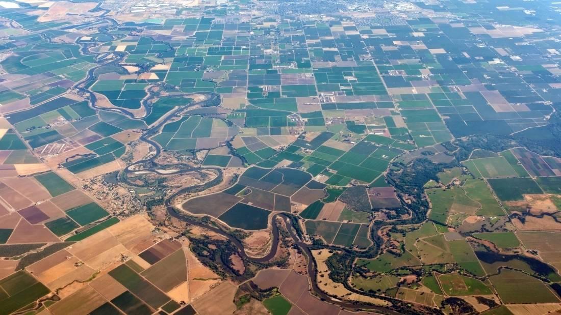land use aerial shot