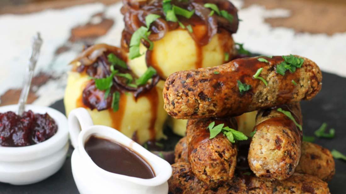 Nutty Mushroom Sausages