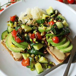Toast avocado good stuff