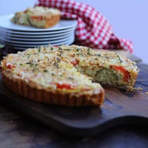 tofu cheese tomato broccoli quiche
