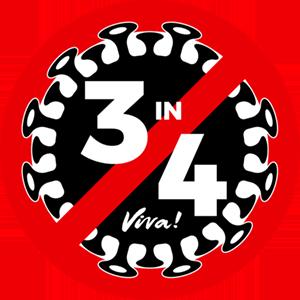 3 in 4 Logo Small