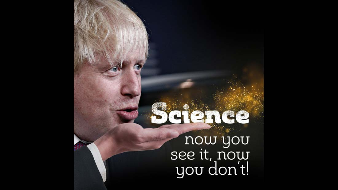Boris Johnson Science