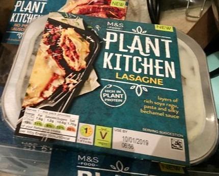 M&S Vegan Lasagne
