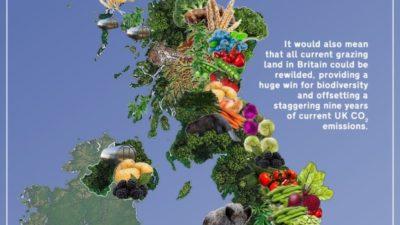 Revisioning Britain Map For Vegan Britain