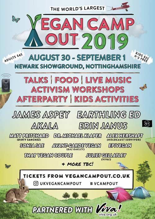 Vegan Camp Out Flyer