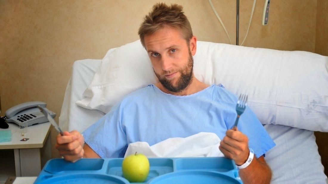 Vegan hospital food