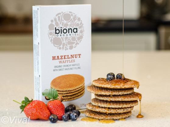 biona vegan hazlenut waffles