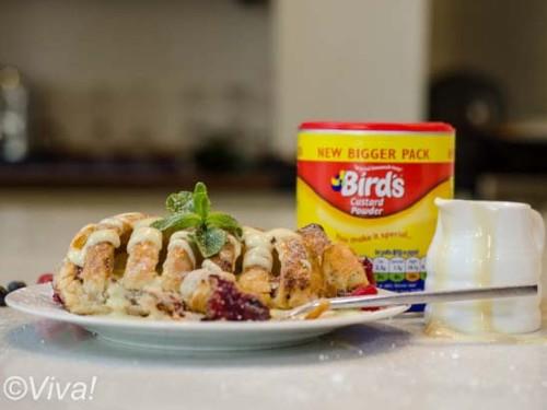 birds vegan custard
