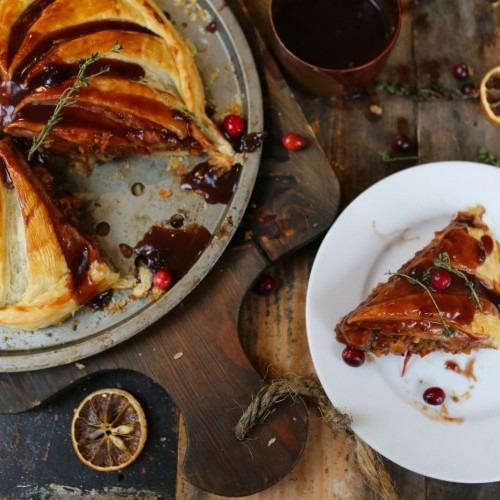 Chestnut, Mushroom & Red Wine Pithivier