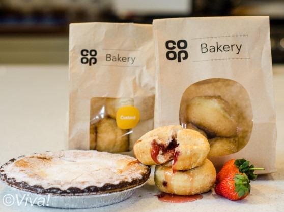 coop vegan jam and custard doughnuts