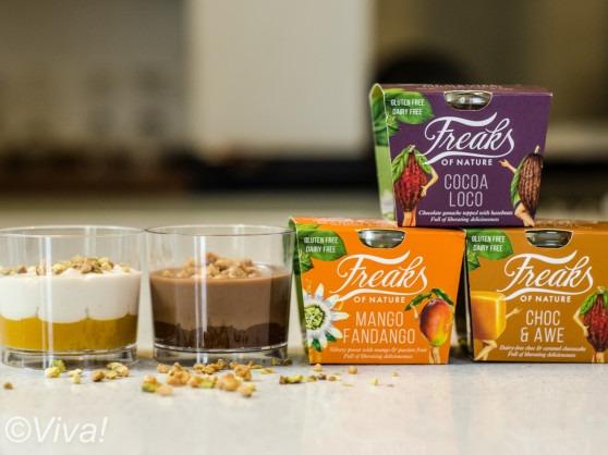 freaks of nature vegan dessert pot selection