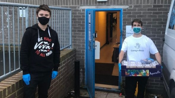Viva! hand over food to Caring in Bristol