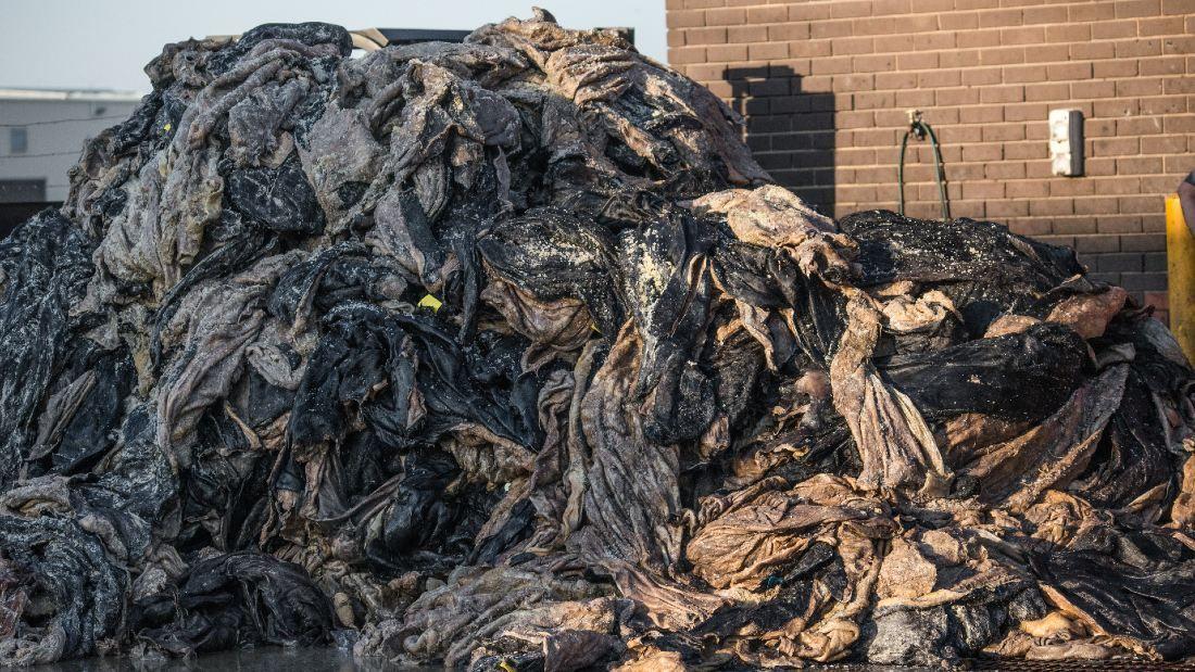 Pile of animal skins