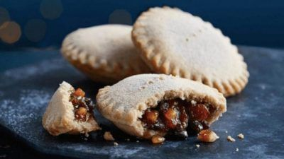 Gregg's Mince Pies on Blue Background
