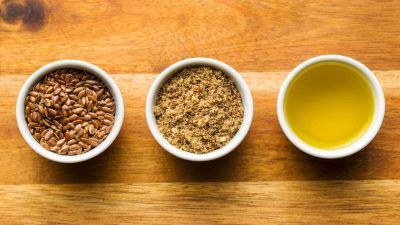 flaxseed in bowls