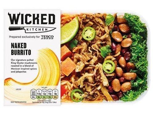 tesco vegan wicked naked burrito