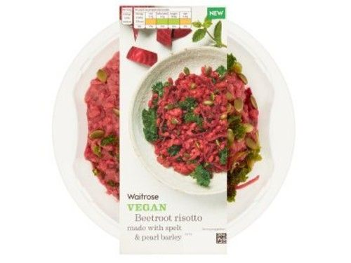 vegan beetroot risotto from waitrose