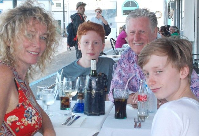Juliet and Tony Wardle with sons Jazz and Finn