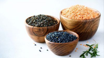 bowls of lentils
