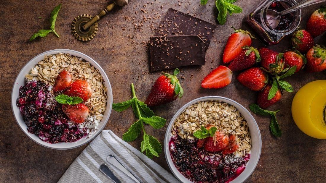 Berries and dark chocolate
