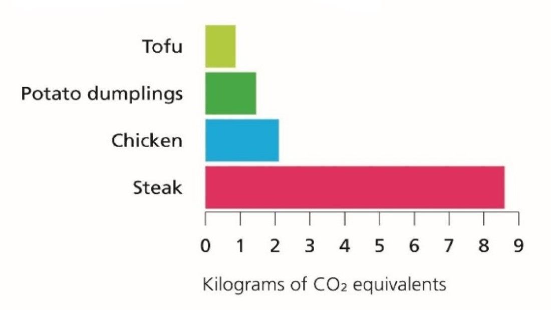 comparing the carbon footprint of meals